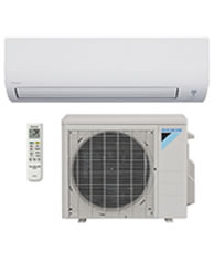 Ductless heating and cooling units